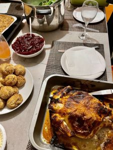 """Instead of her usual traditions, St. Andrews' freshman Niamh McCarthy had a """"student orphans"""" Thanksgiving this year with other Americans on campus."""